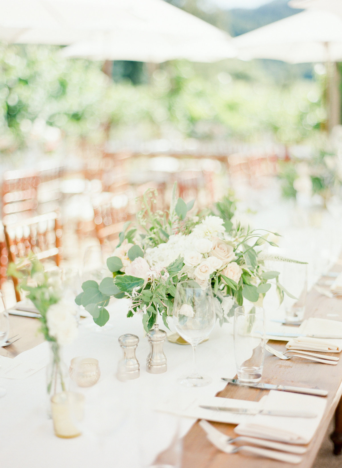 Ivory Floral Wedding Reception