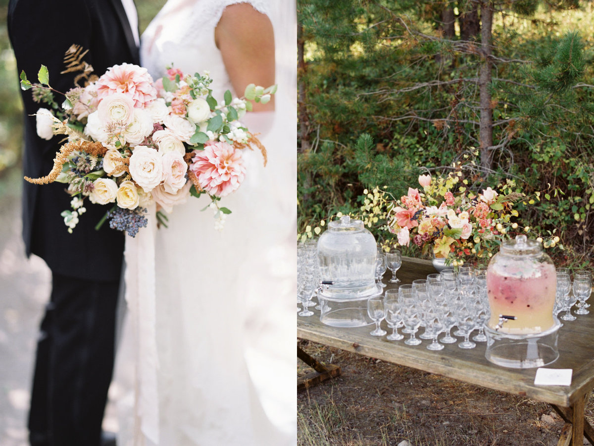 bouquet-welcome beverages- wedding