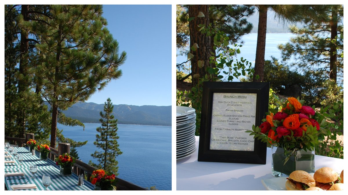 Corporate brunch by Jenny Schneider Events in Lake Tahoe, CA.
