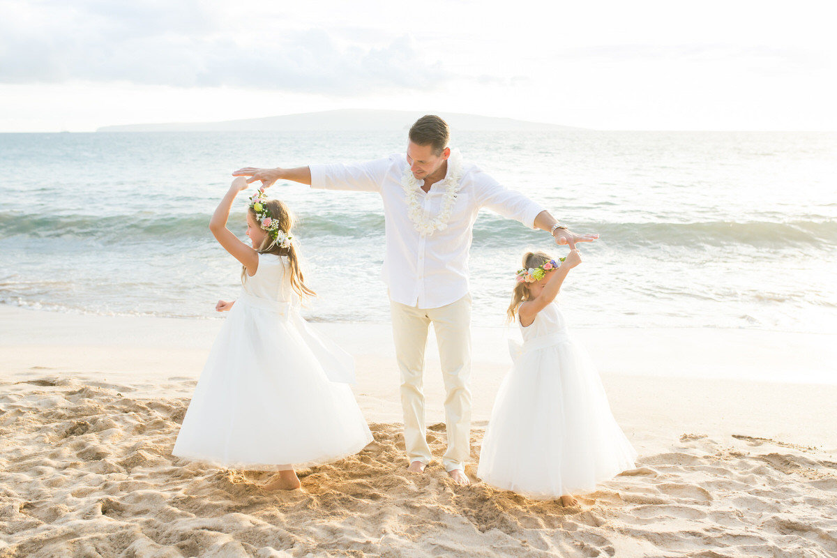 Vow Renewal in Maui on the beach.