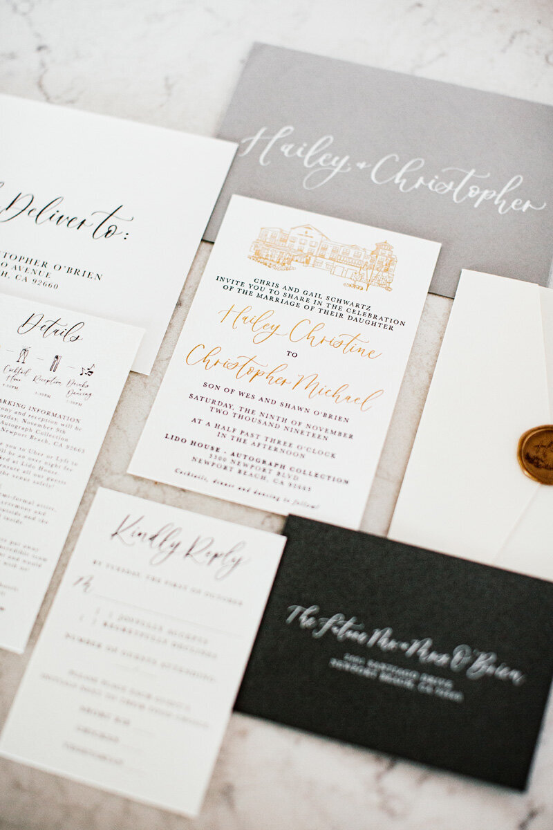 pirouettepaper.com _ Wedding Stationery, Signage and Invitations _ Pirouette Paper Company _ Lido House Newport Beach Wedding _ Leah Hardy Photography  (25)