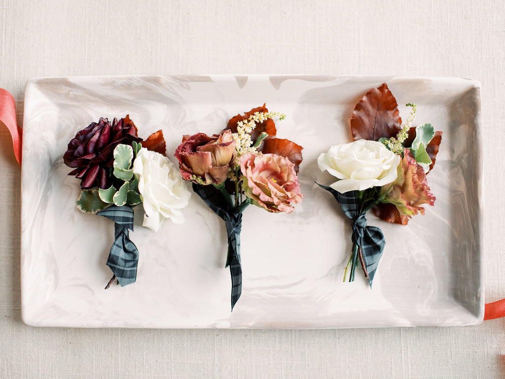 fall boutonniere Delaware wedding florist