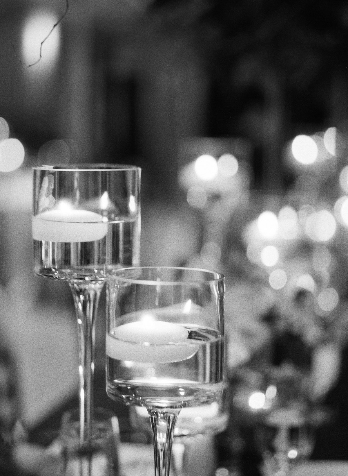 Romantic Wedding Atmosphere at the Greystone at Piedmont Park Black and White
