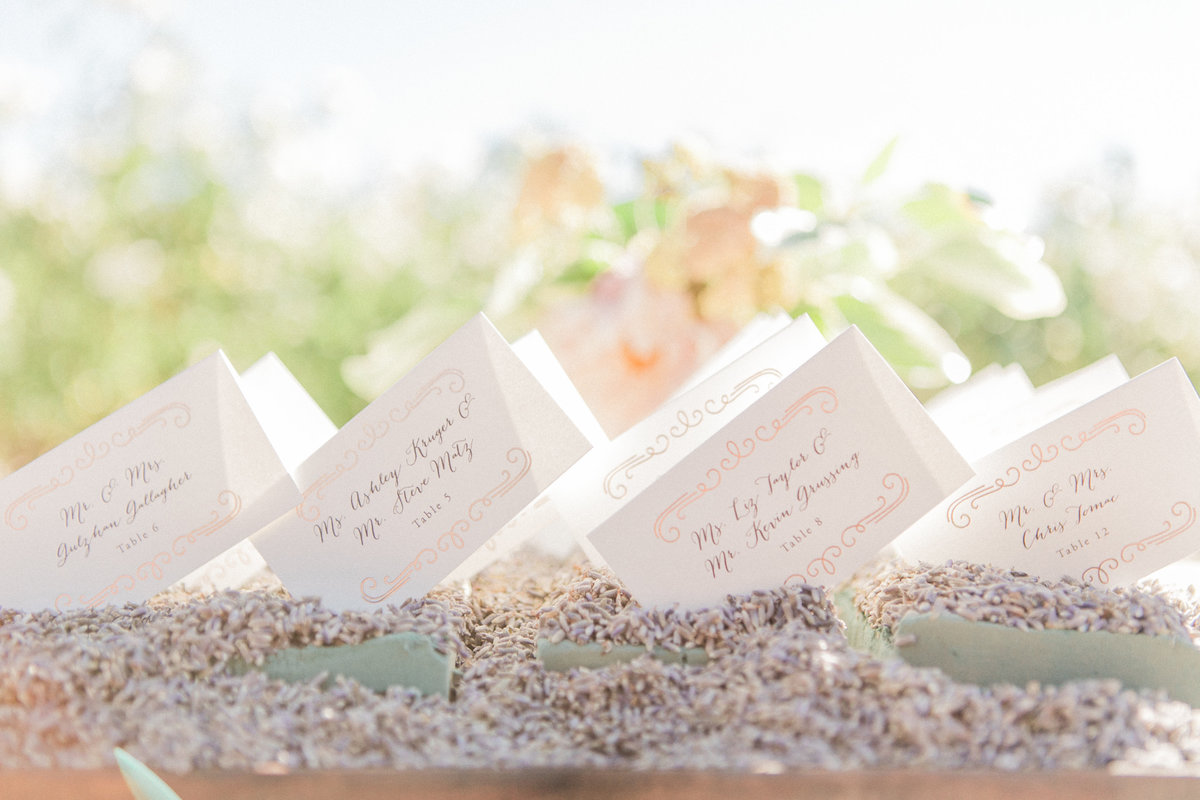 Boutique Events Napa Escort Cards