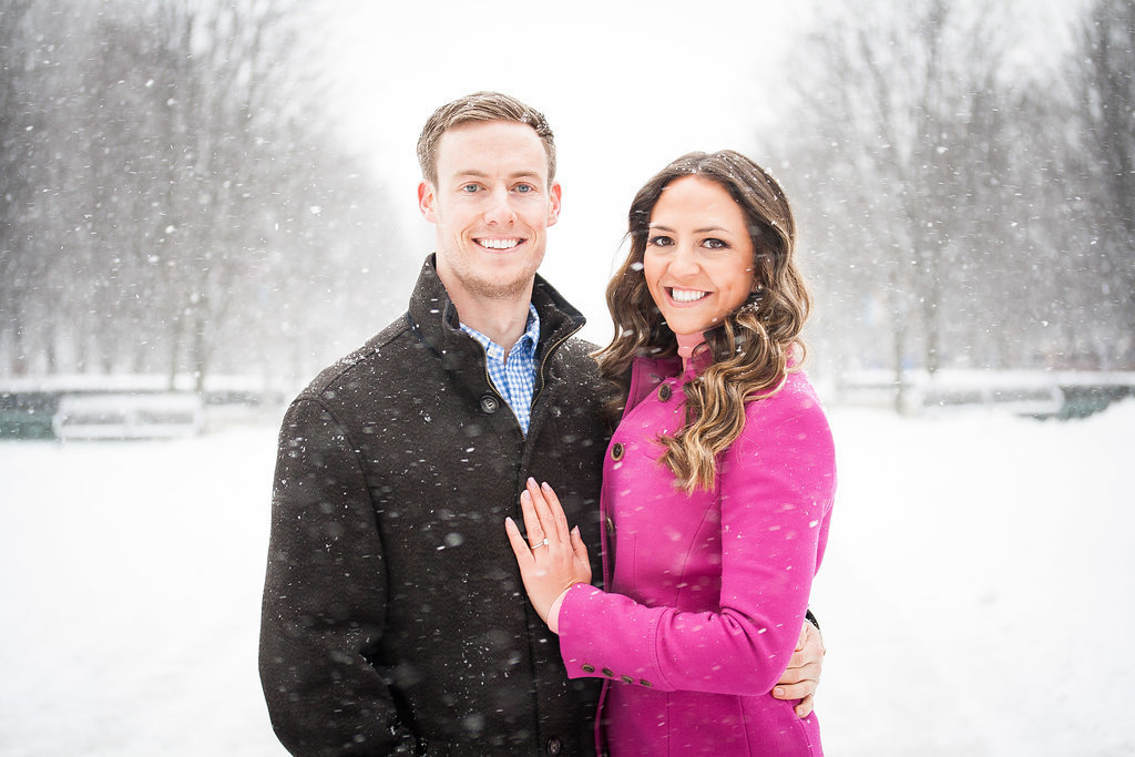 Millennium Park Chicago Illinois Winter Engagement Photographer Taylor Ingles 8