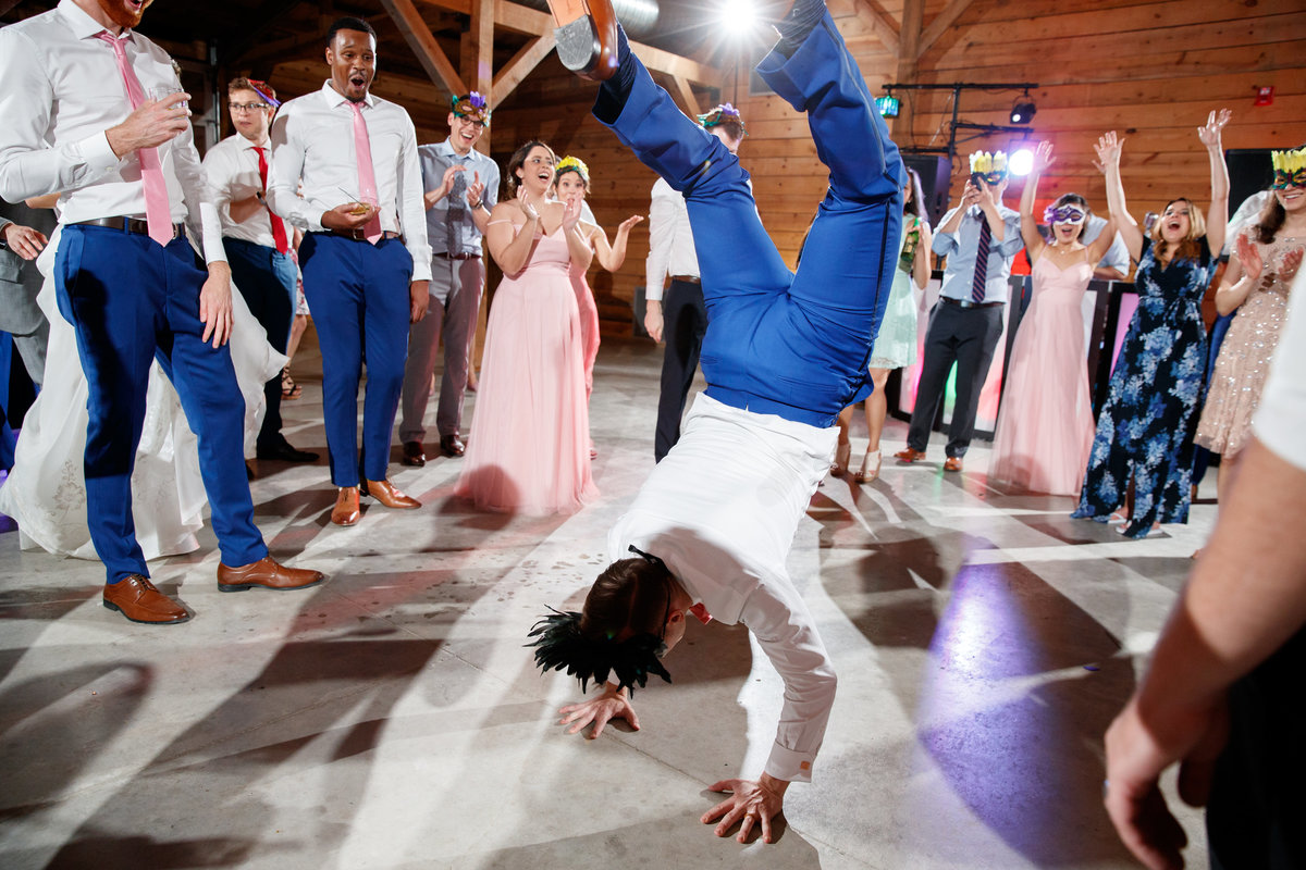 Austin wedding photographer addison grove wedding photographer groom handstand