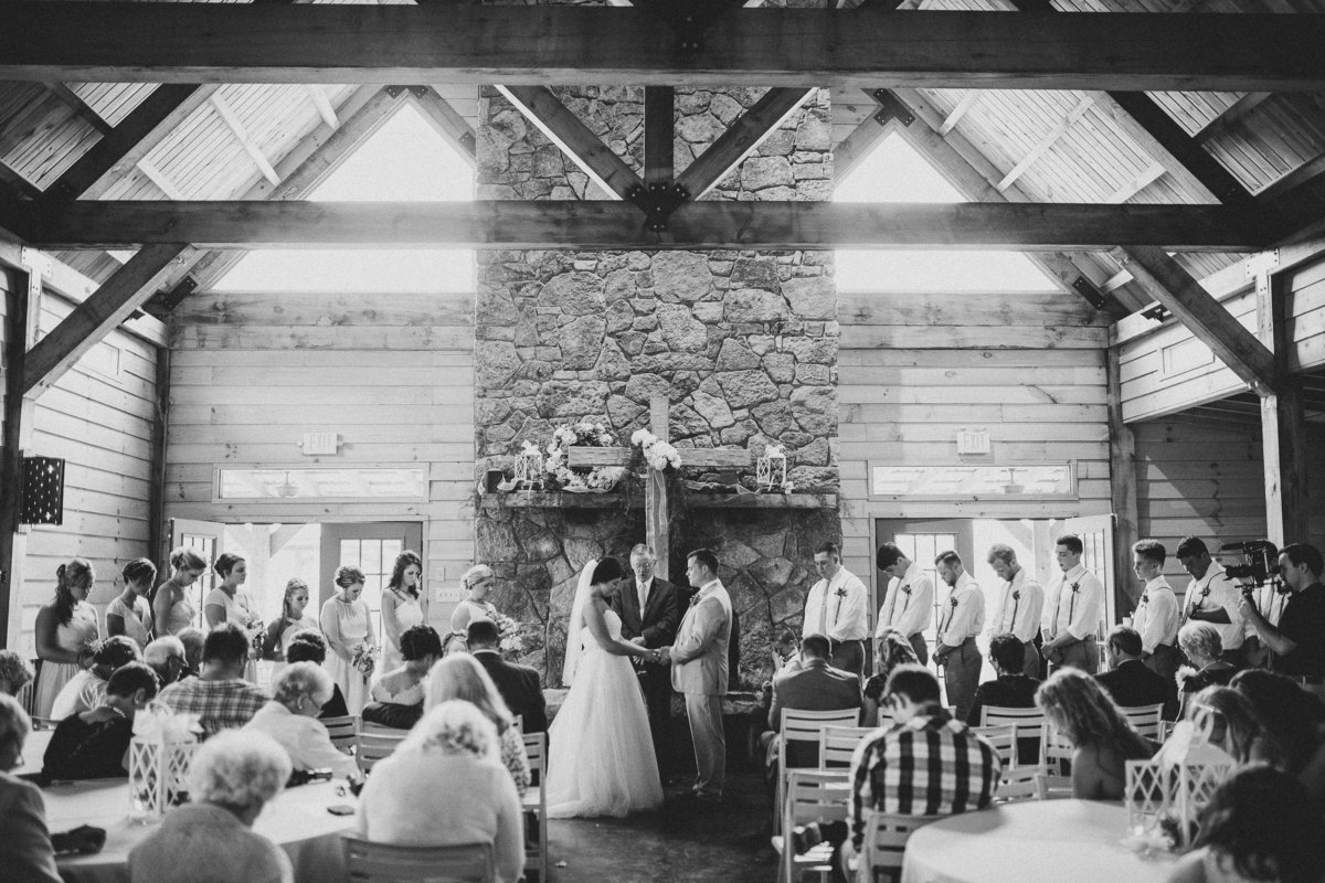 barn-wedding-ceremony-praying