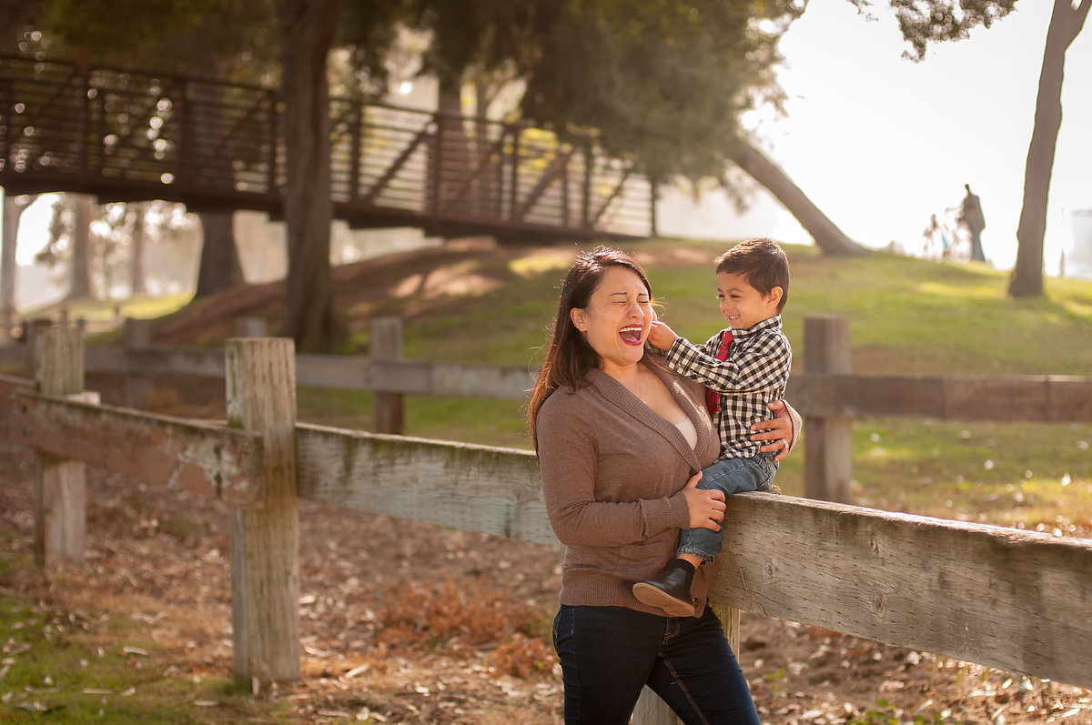 Mother and son family photography in Orange County