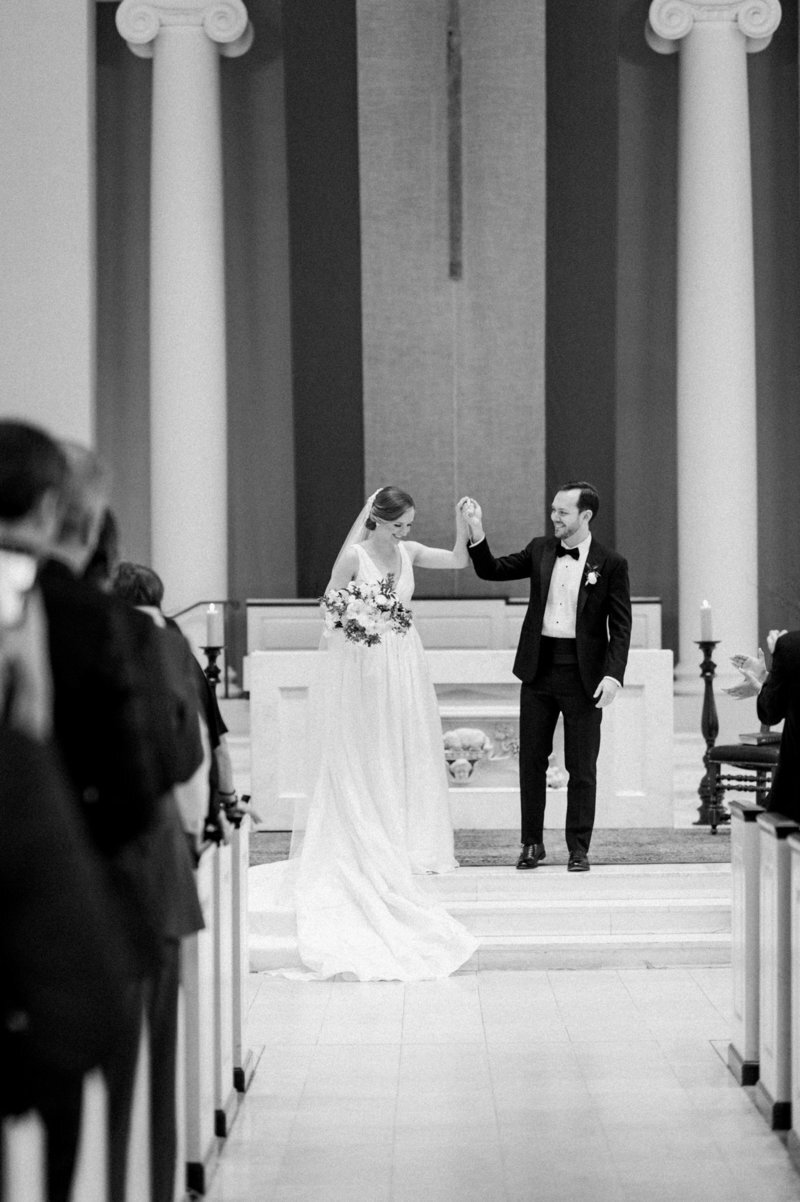 just-married-bride-groom-holy-trinity-catholic-church-dc