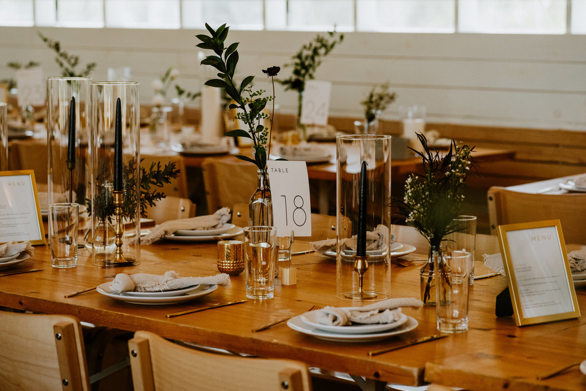 prospect house minimal wedding decor