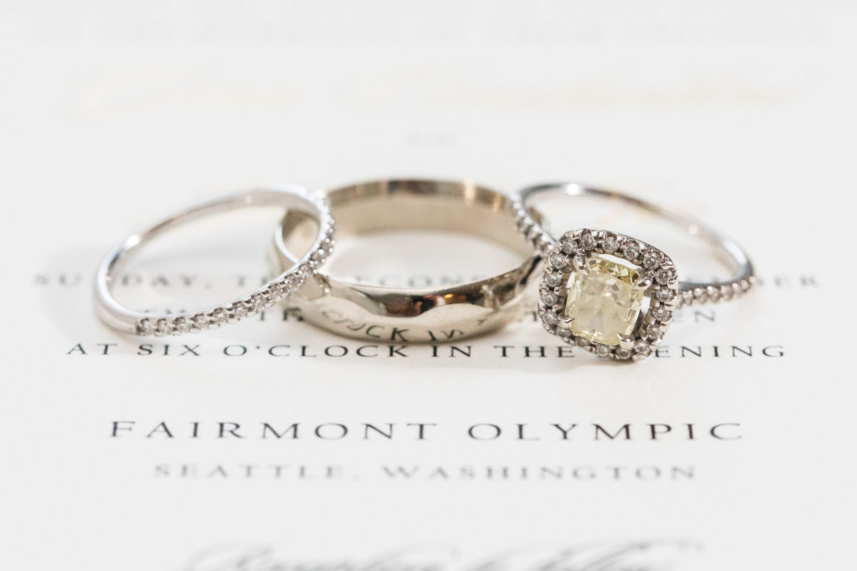 Fairmont Olympic Hotel Wedding Rings Seattle Wedding