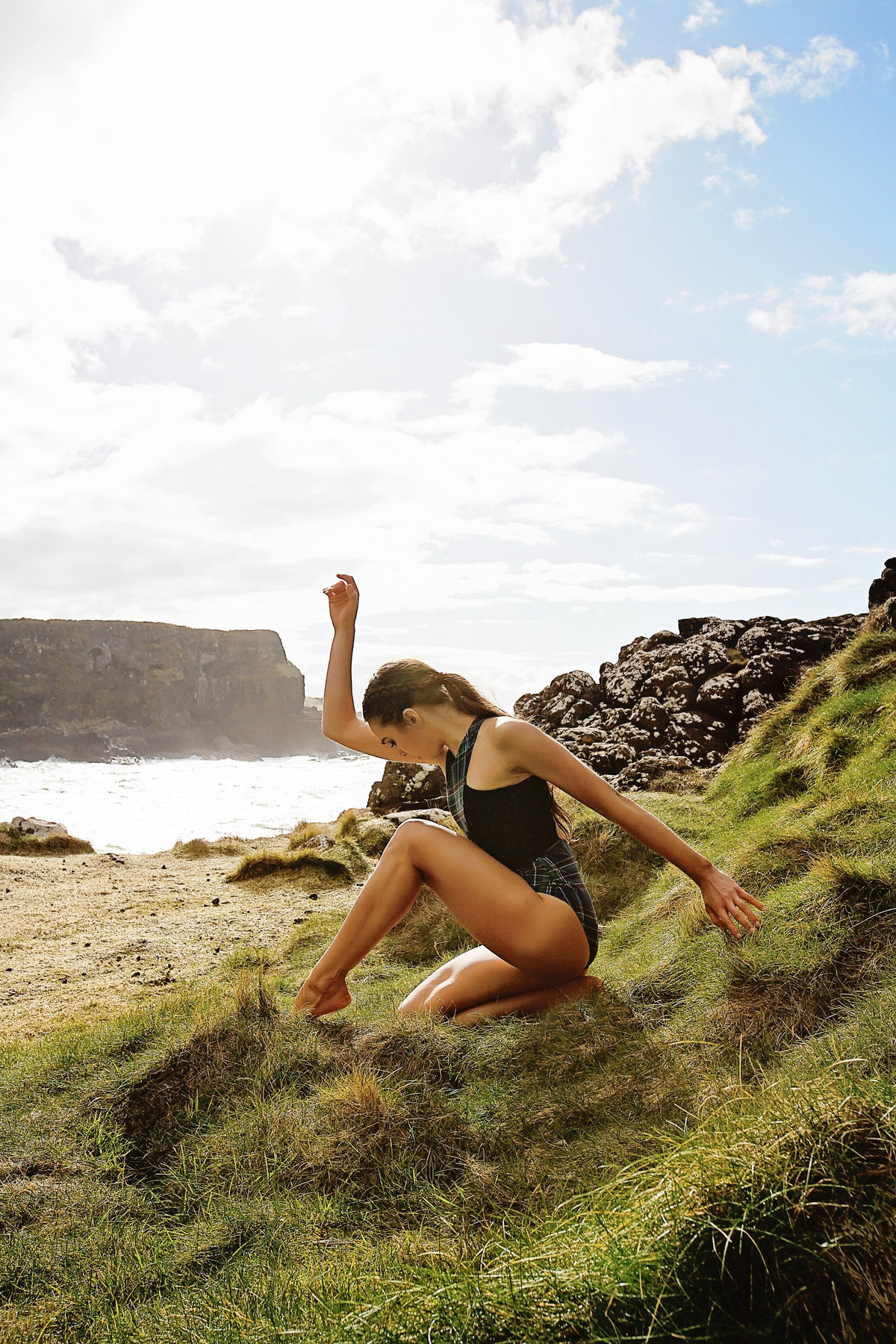 dancer in northern ireland nature pose