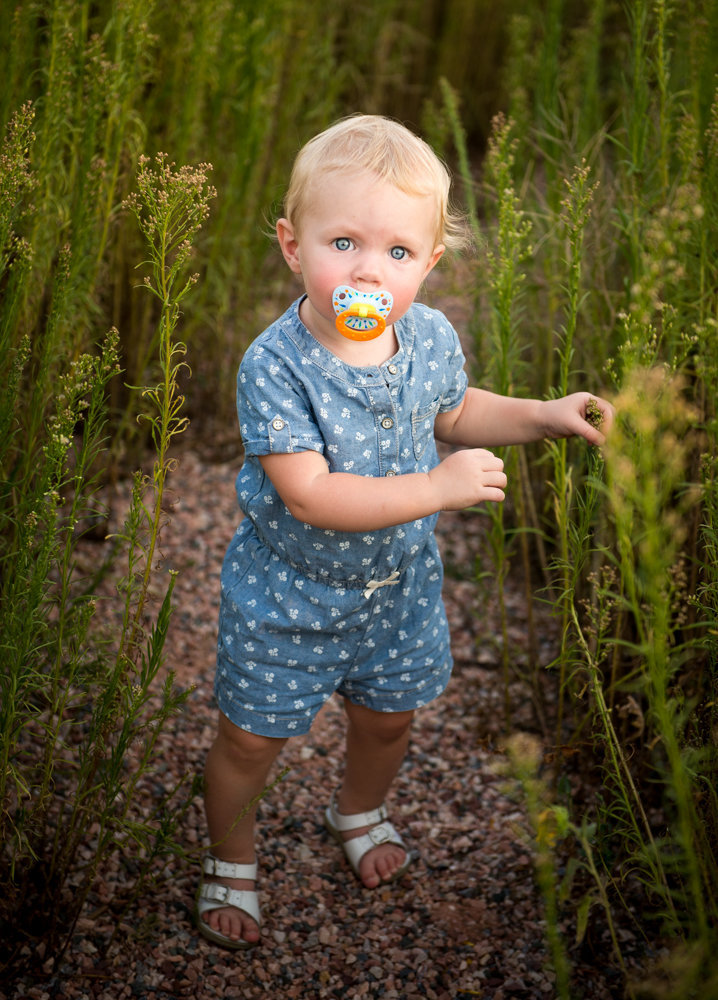 Little Girl in tall grasses
