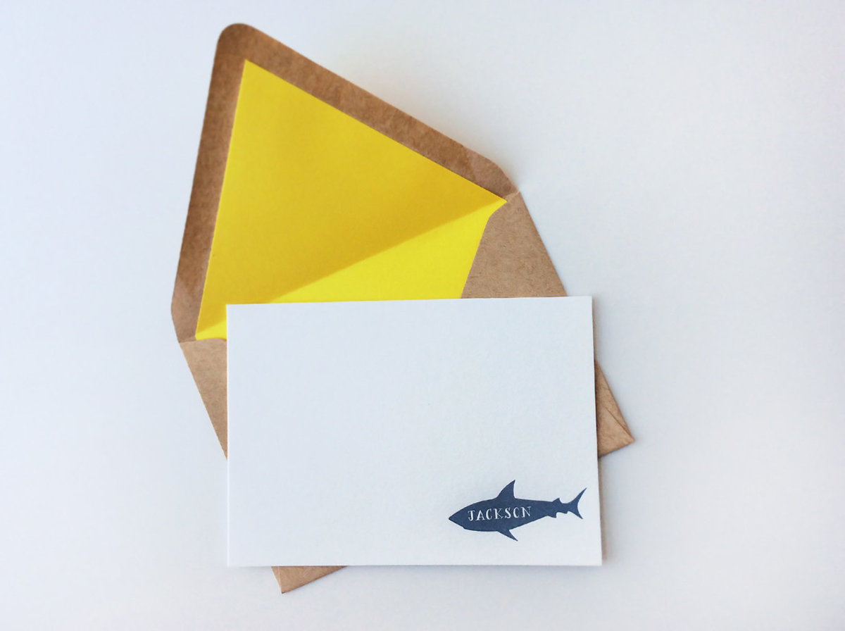 Personalized-children-letterpress-shark