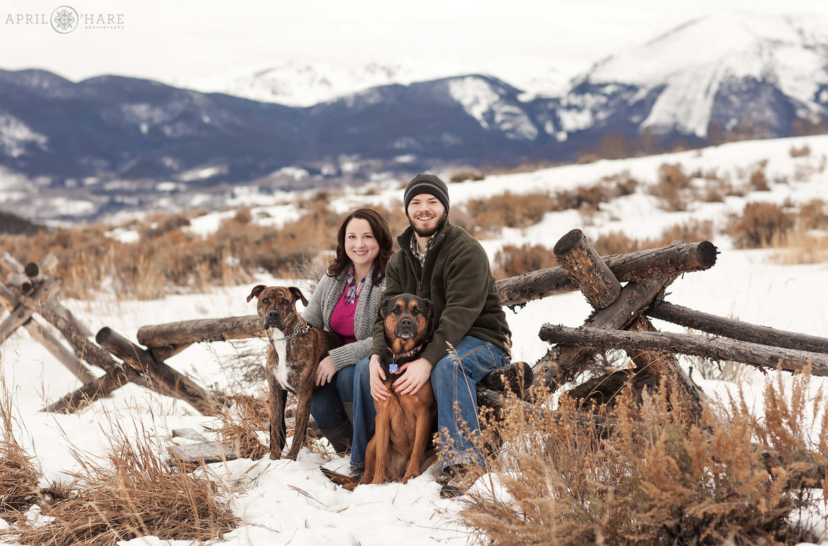 Dillon Colorado Winter Family Photography in Summit County Colorado