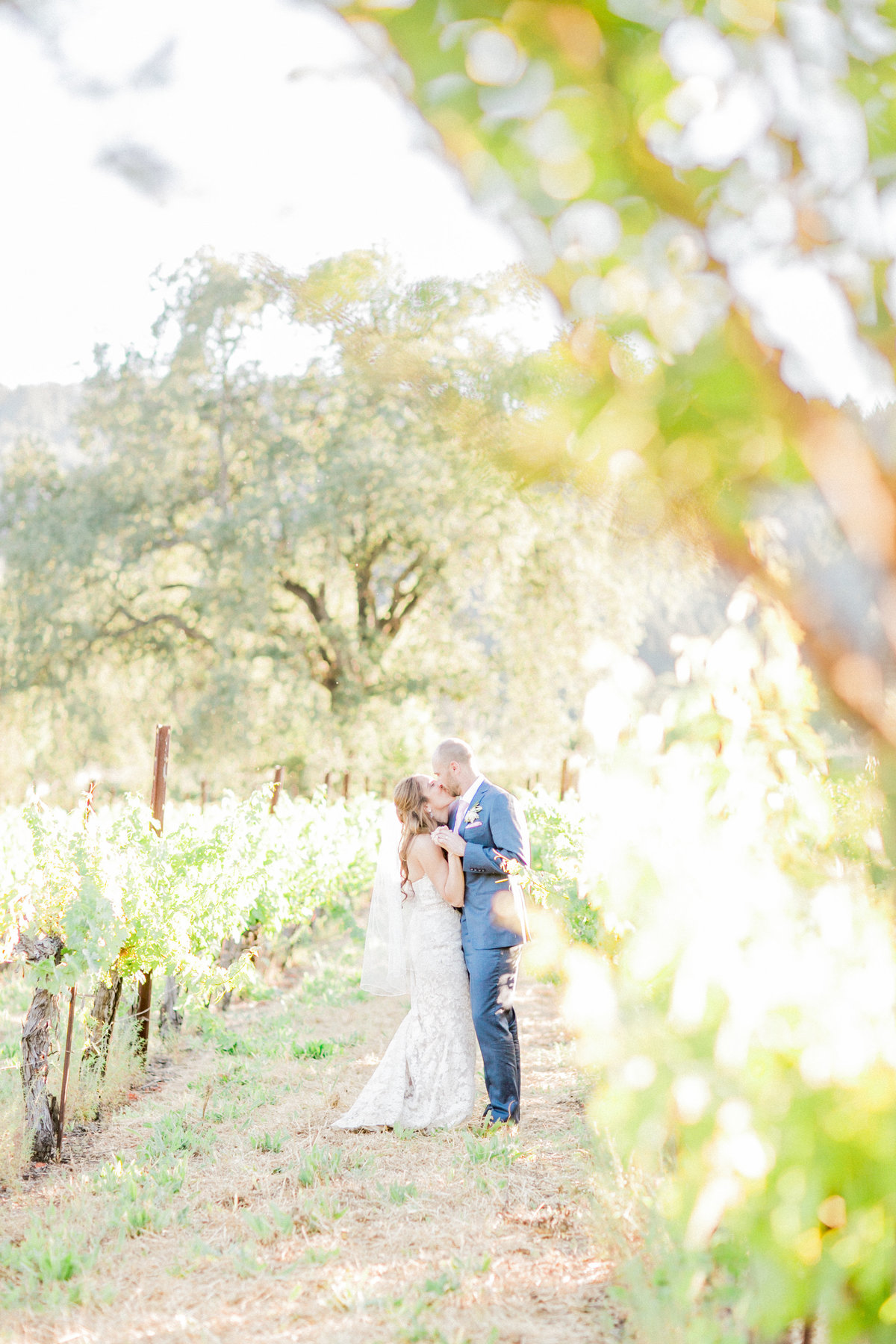 California Bride & Groom Kiss