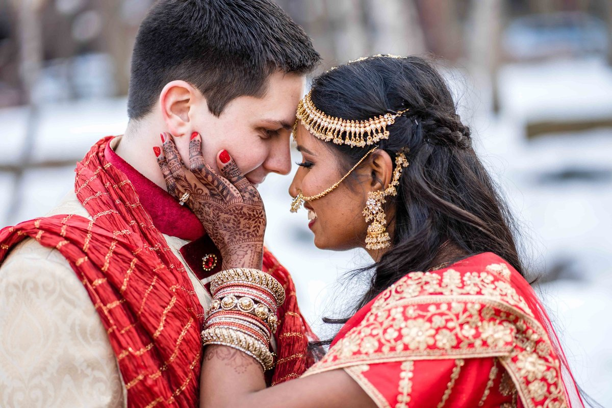 Indian Bride and Groom Intimate