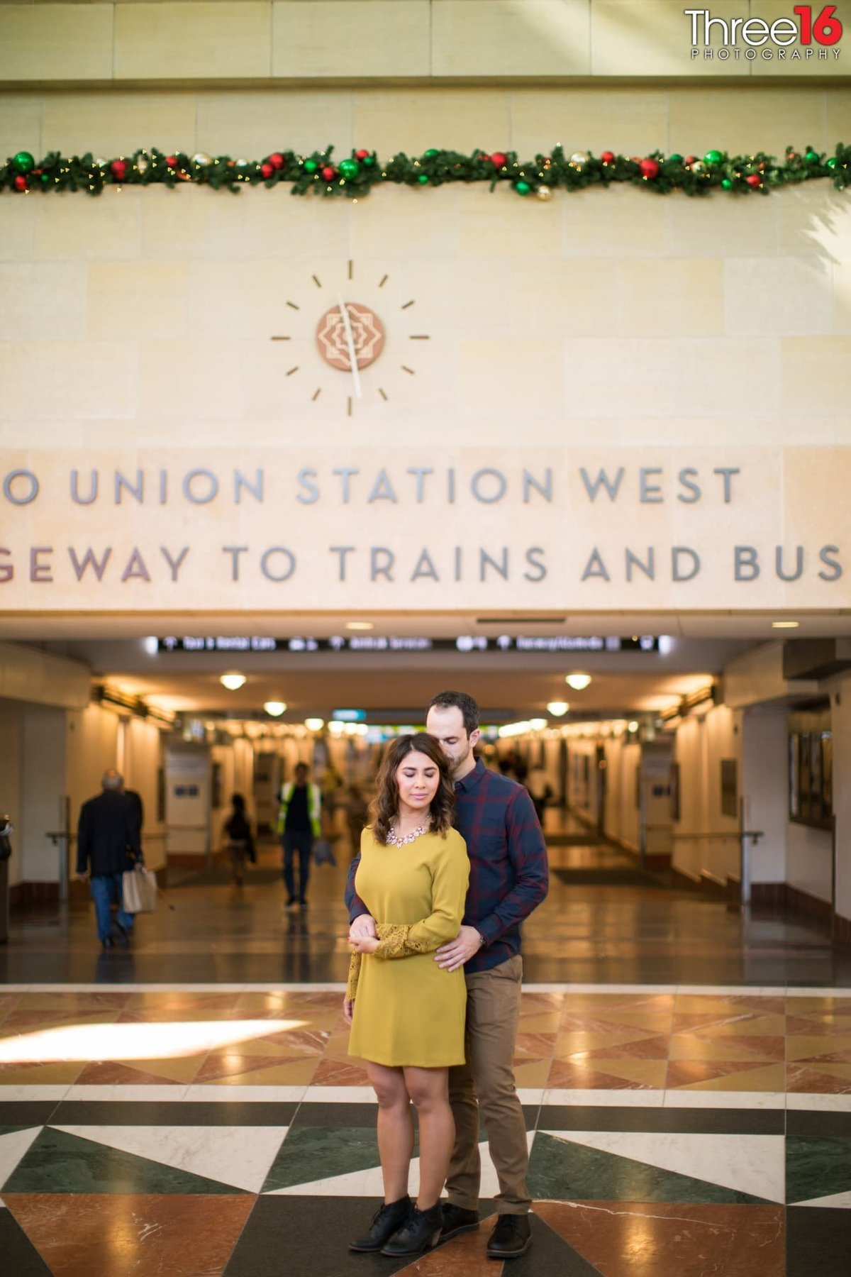 Los Angeles Union Station Engagement Photos LA County Weddings Professional Photography  Unique