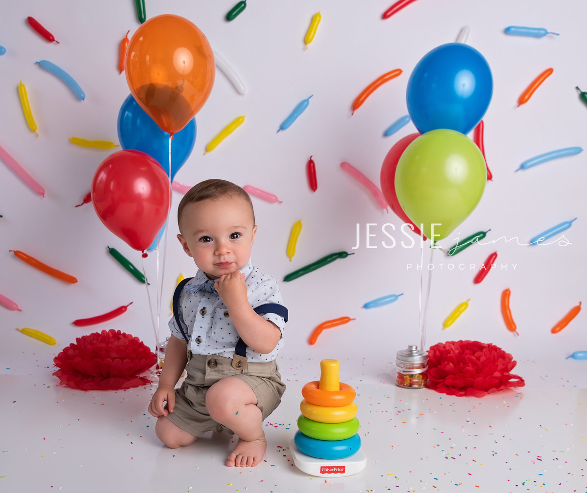 baby boy first birthday photo