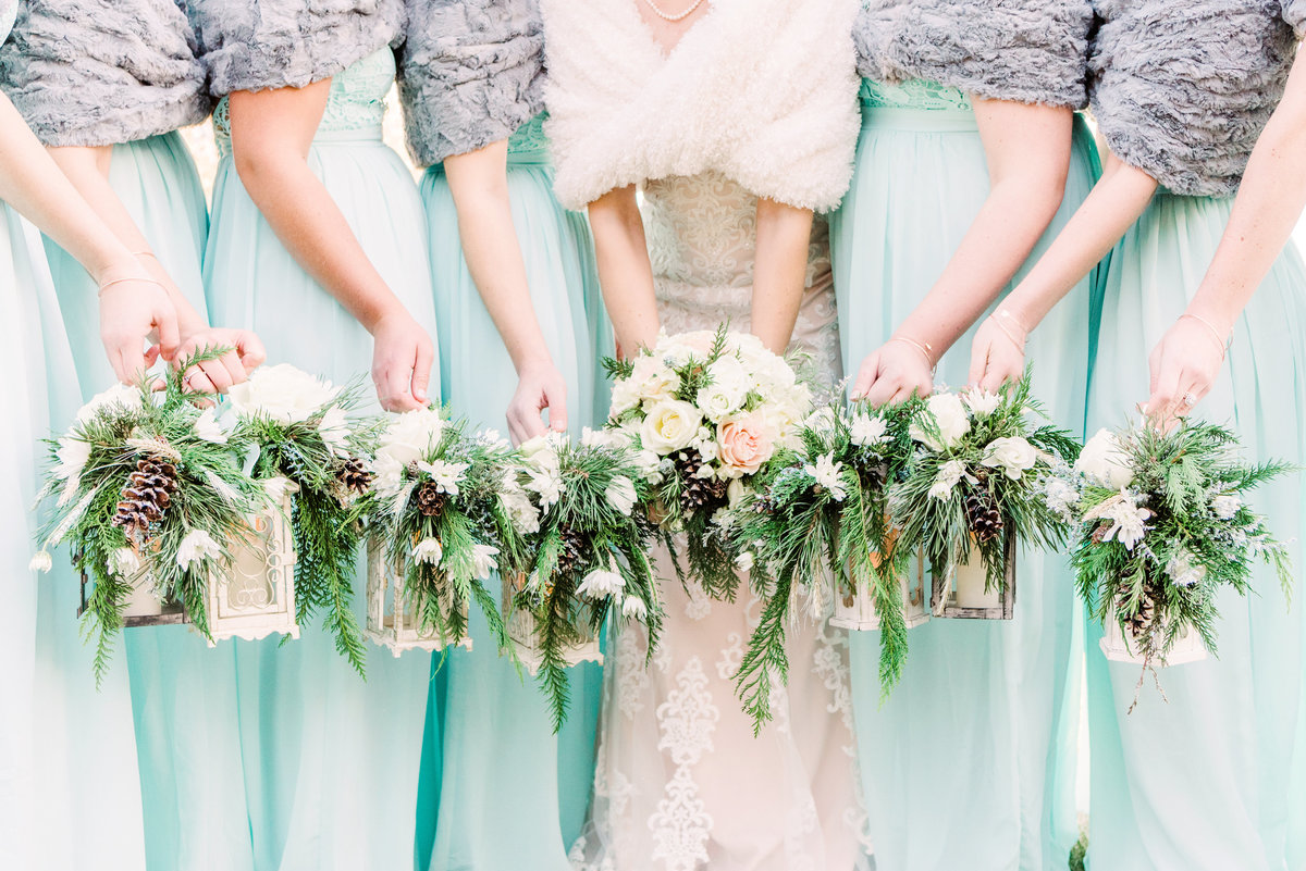 winter bridal bouquets in waterloo