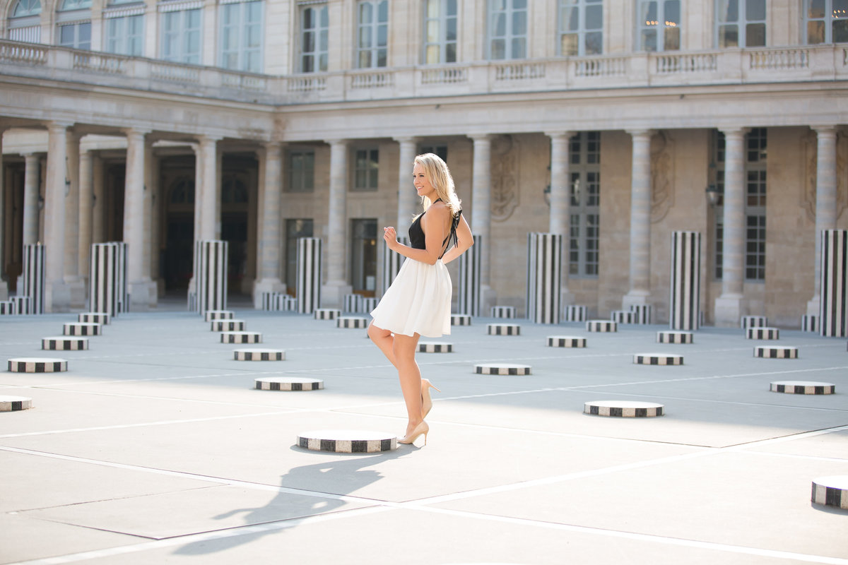 Paris, France portrait session in the Palais Royal by international portrait photographer Karissa Van Tassel