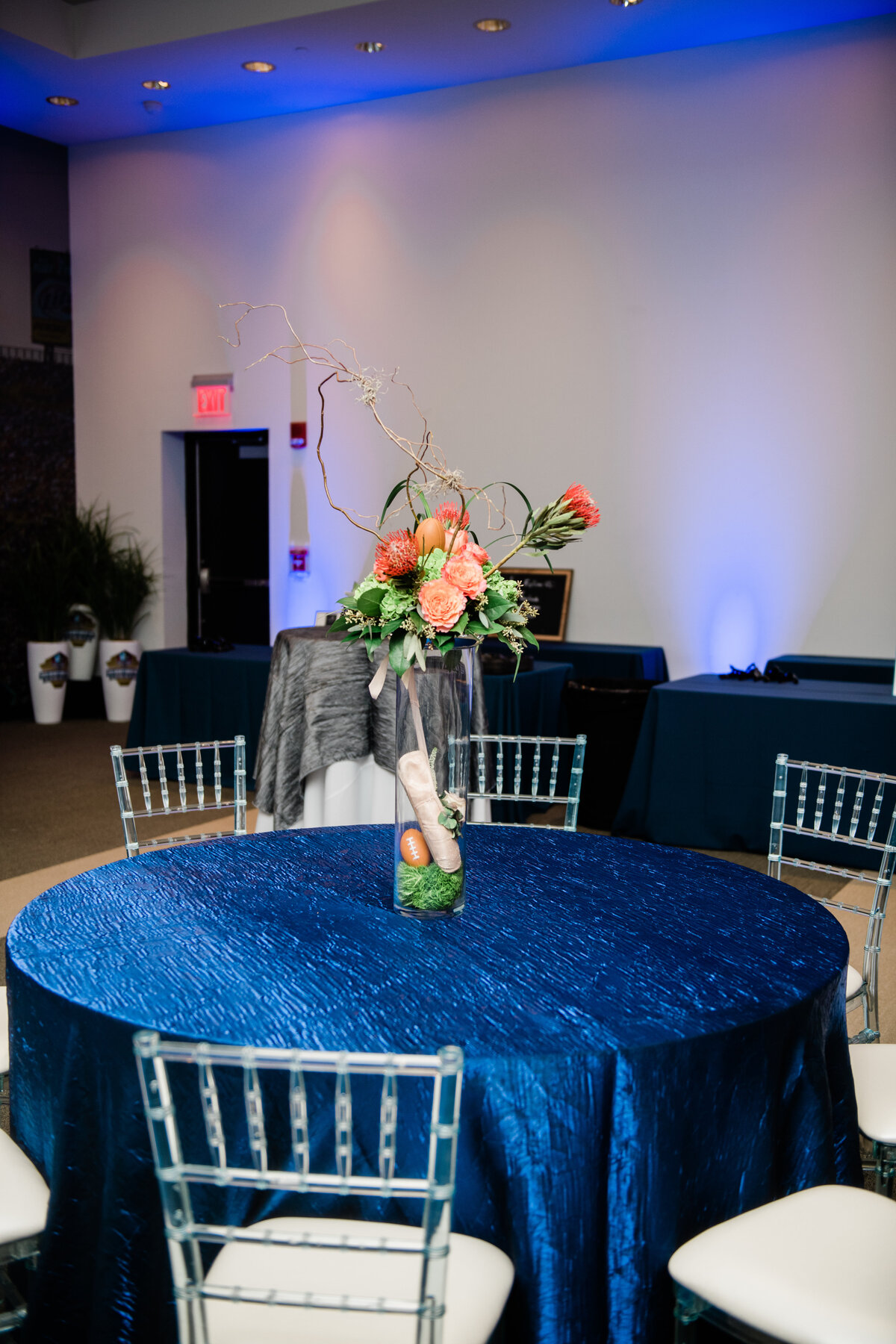 Enshrinement event design planned by Canton Ohio Event Planner