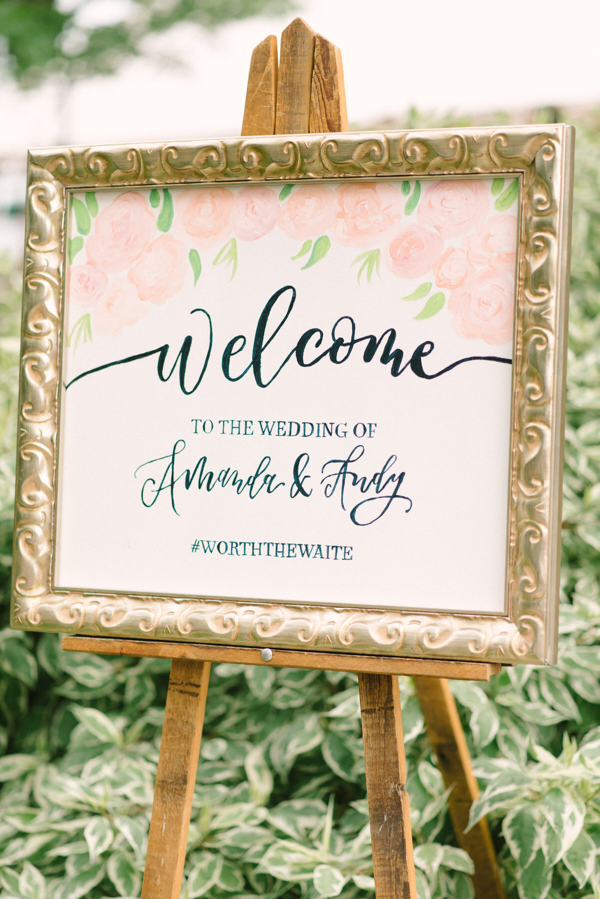 watercolor welcome sign, ceremony sign