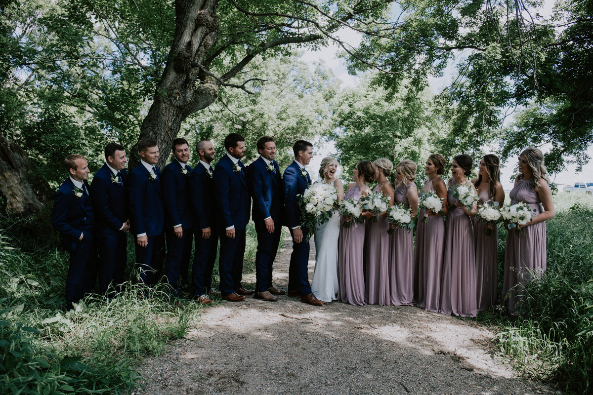 Bridal party for Missoula wedding
