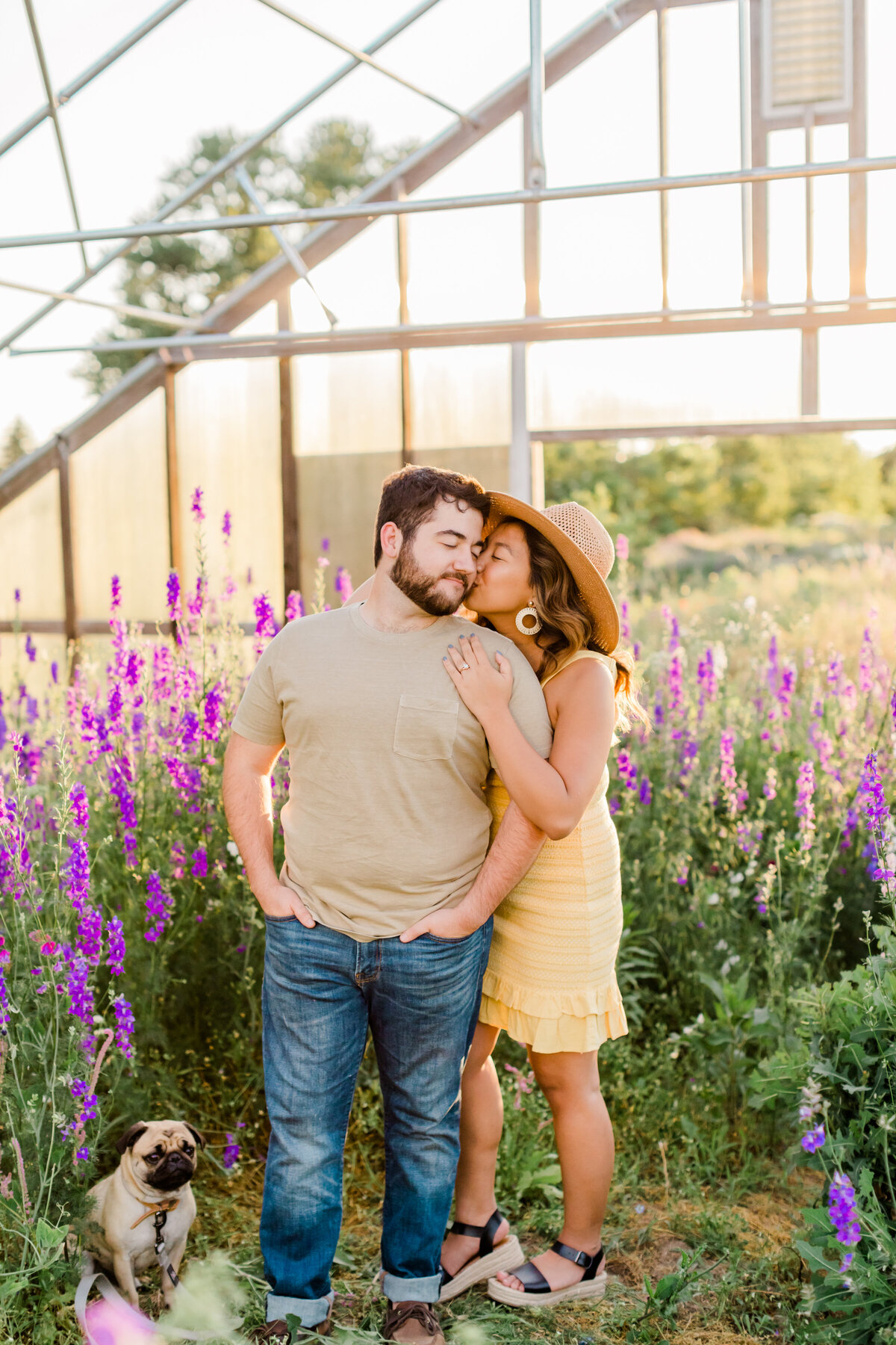 Baltimore Engagement session at flower fields