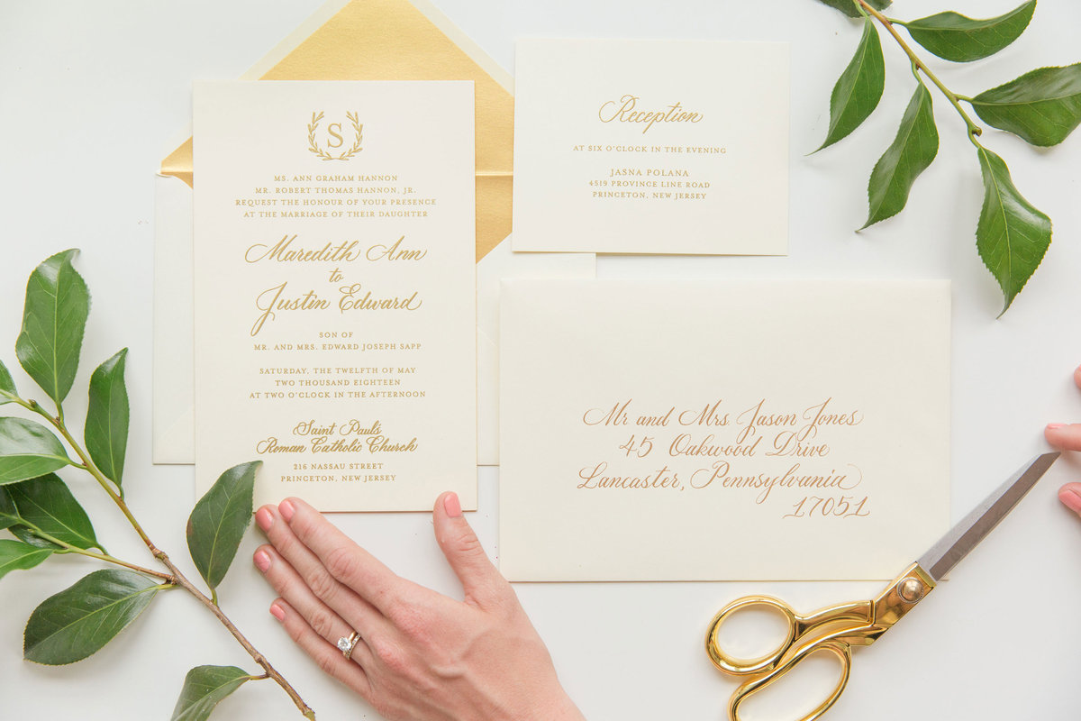 Laurel inspired wedding inviations