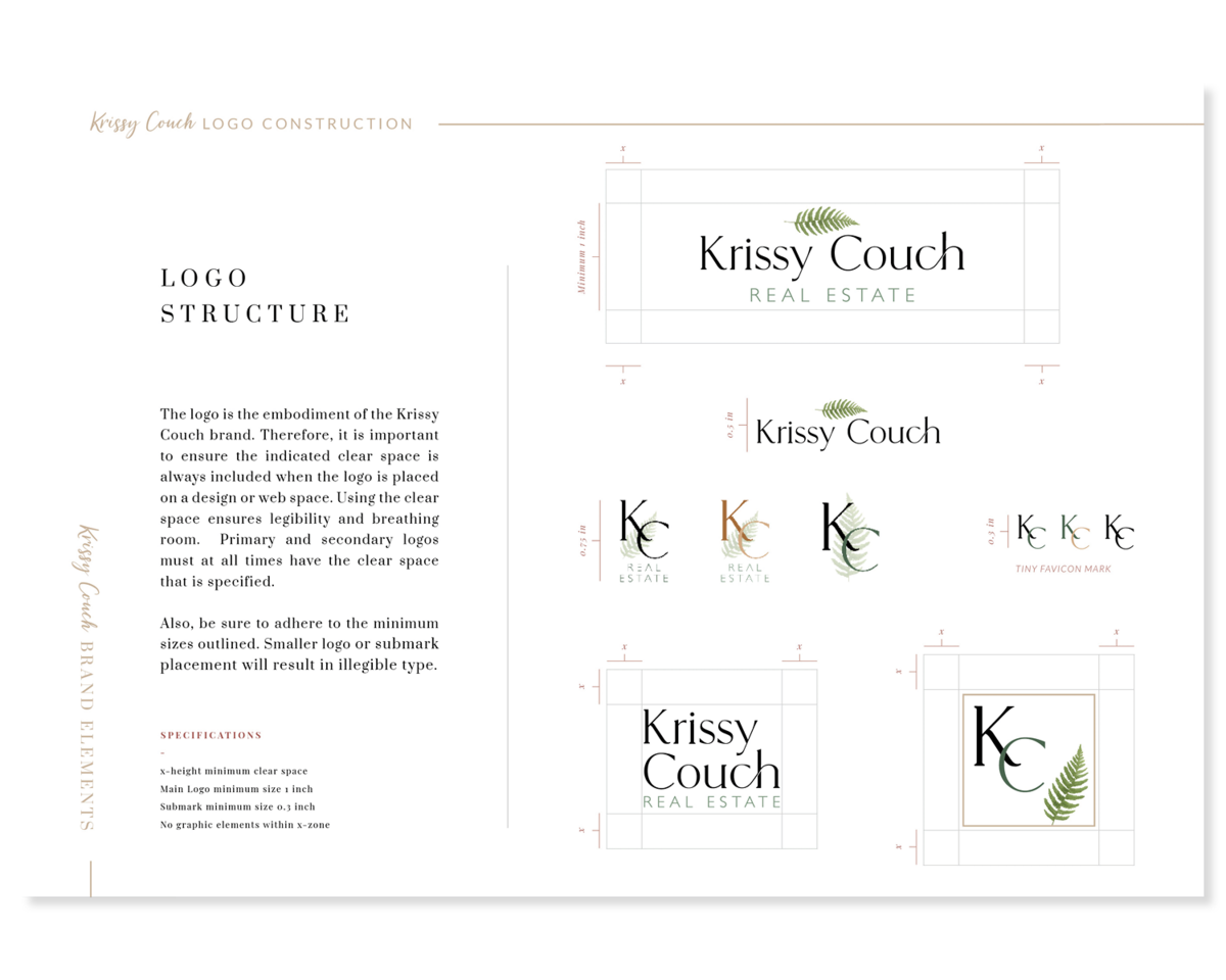 Krissy Couch Brand Identity Logos