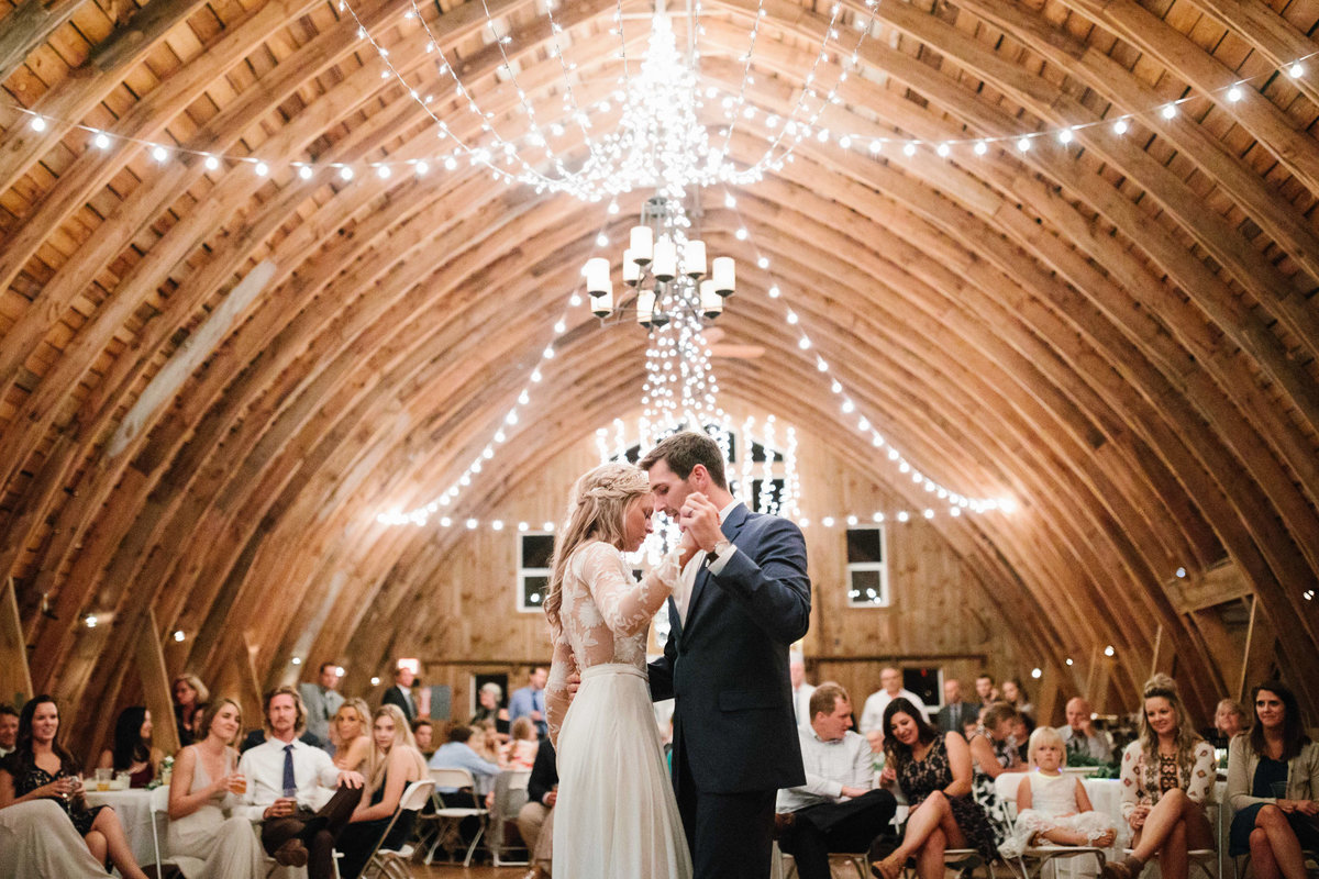 First-dance-barn-at-five-lakes-resort-wedding