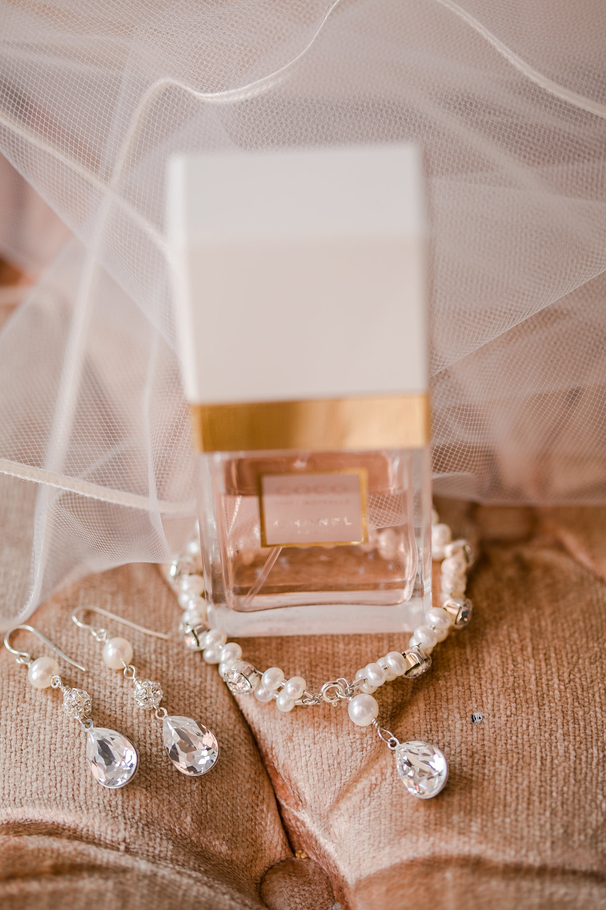 jewelry and perfume wedding photo