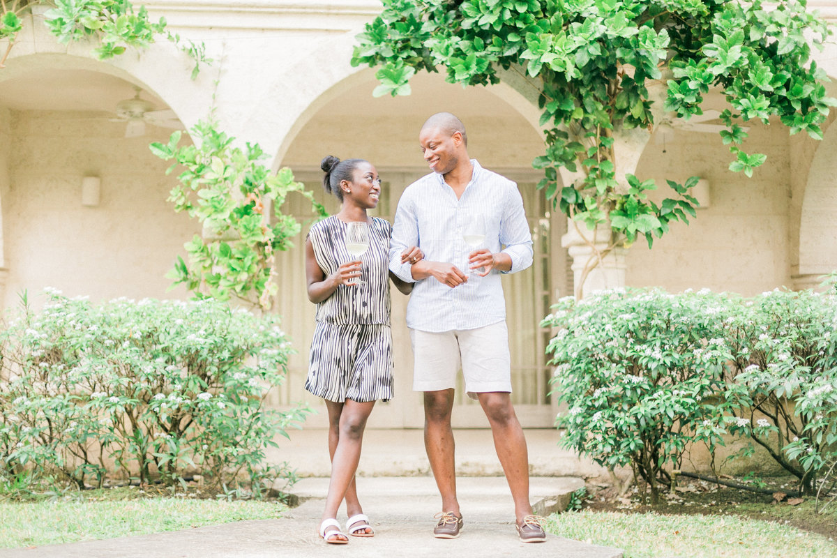Bluff House Sandy Lane Vacation Villa Engagement Photos