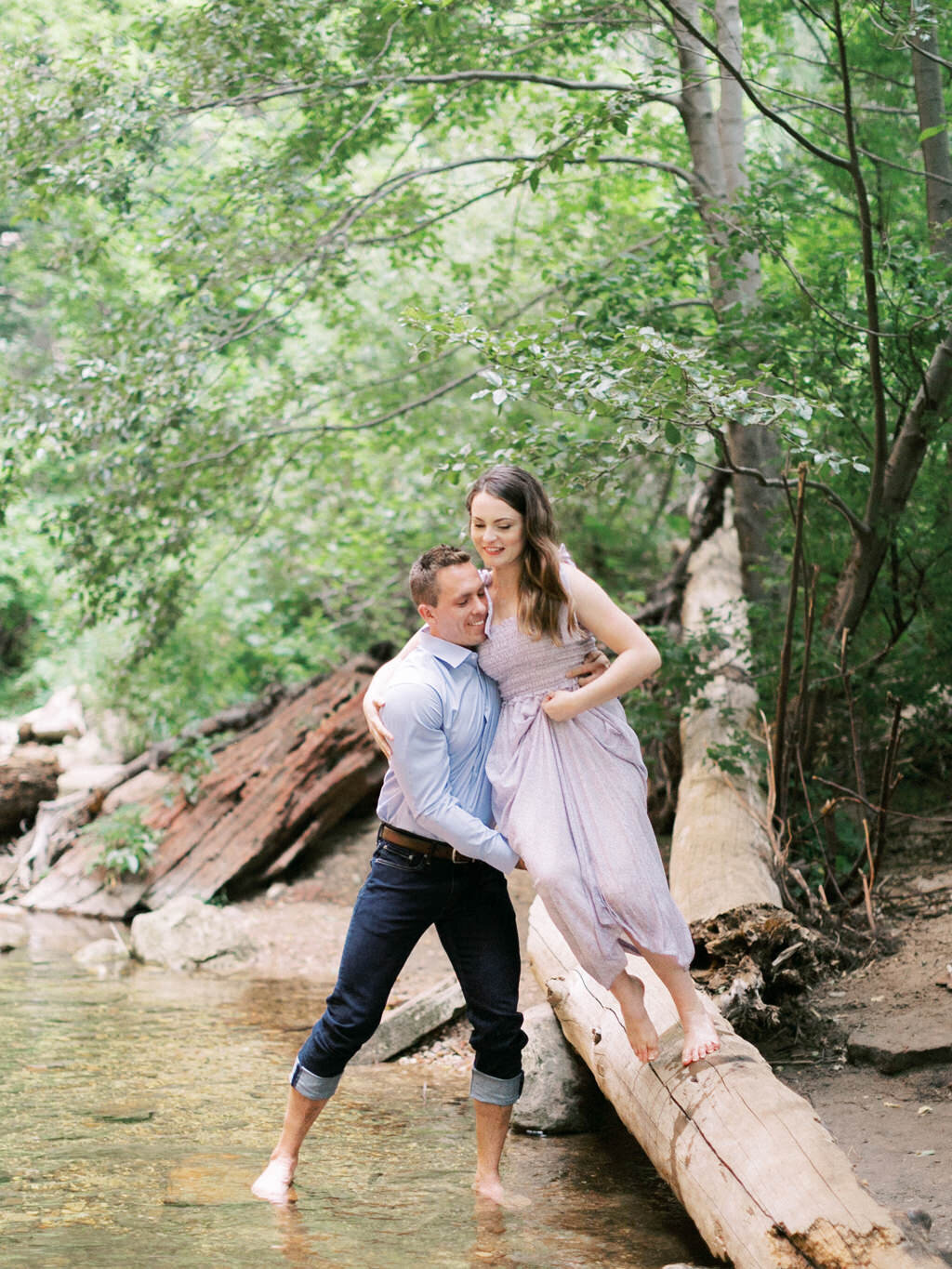 Aubrey & Joey Sedona West Fork Trail Fall Fine Art Engagement Session Ball Photo Co-22