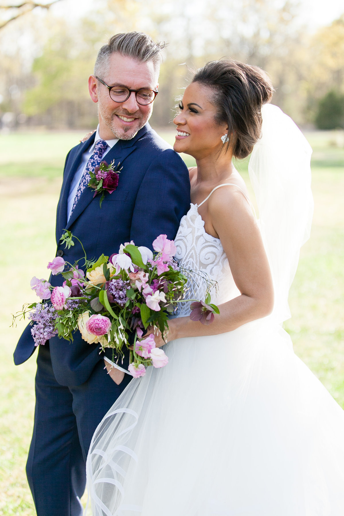 Romantic Spring Elopement  bride and groom photo  at The White Sparrow Barn in Dallas Texas  by Amy Britton Photography Photographer in St. Louis