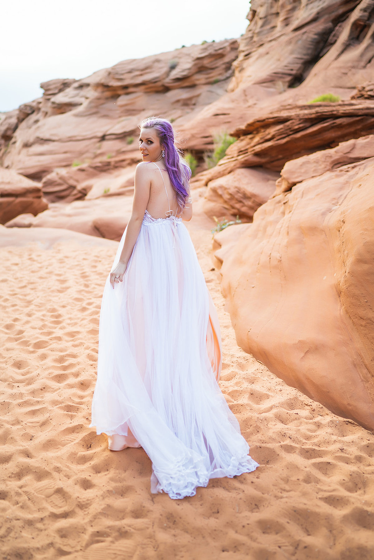 Waterhole Canyon Elopement Photos-94
