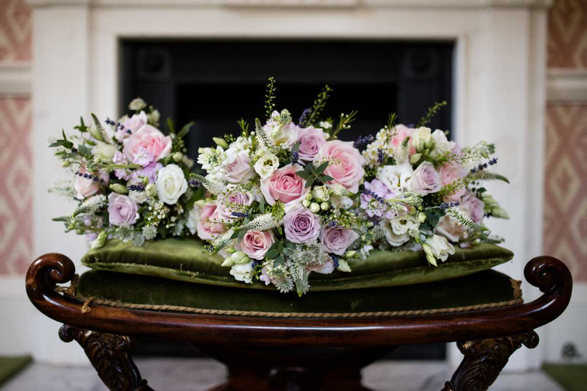 wedding flowers in devon at bridwell