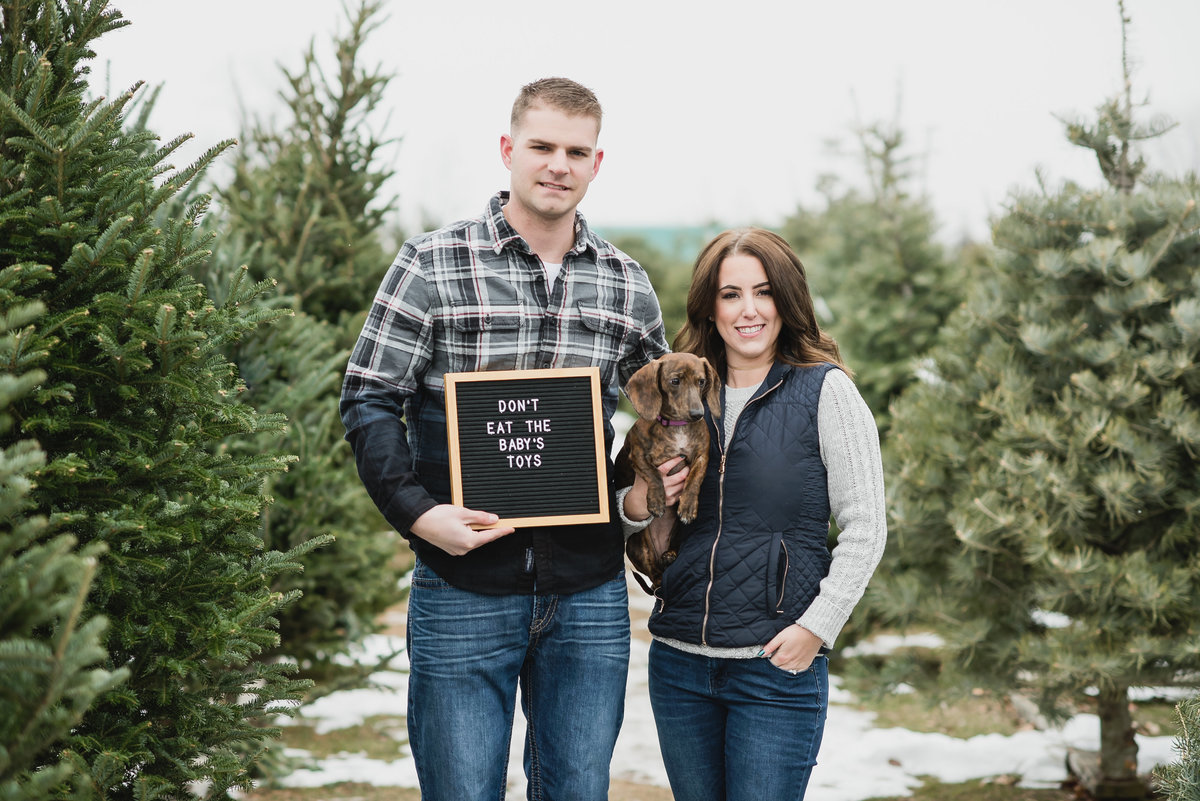 Christmas Tree Farm Baby Announcement13