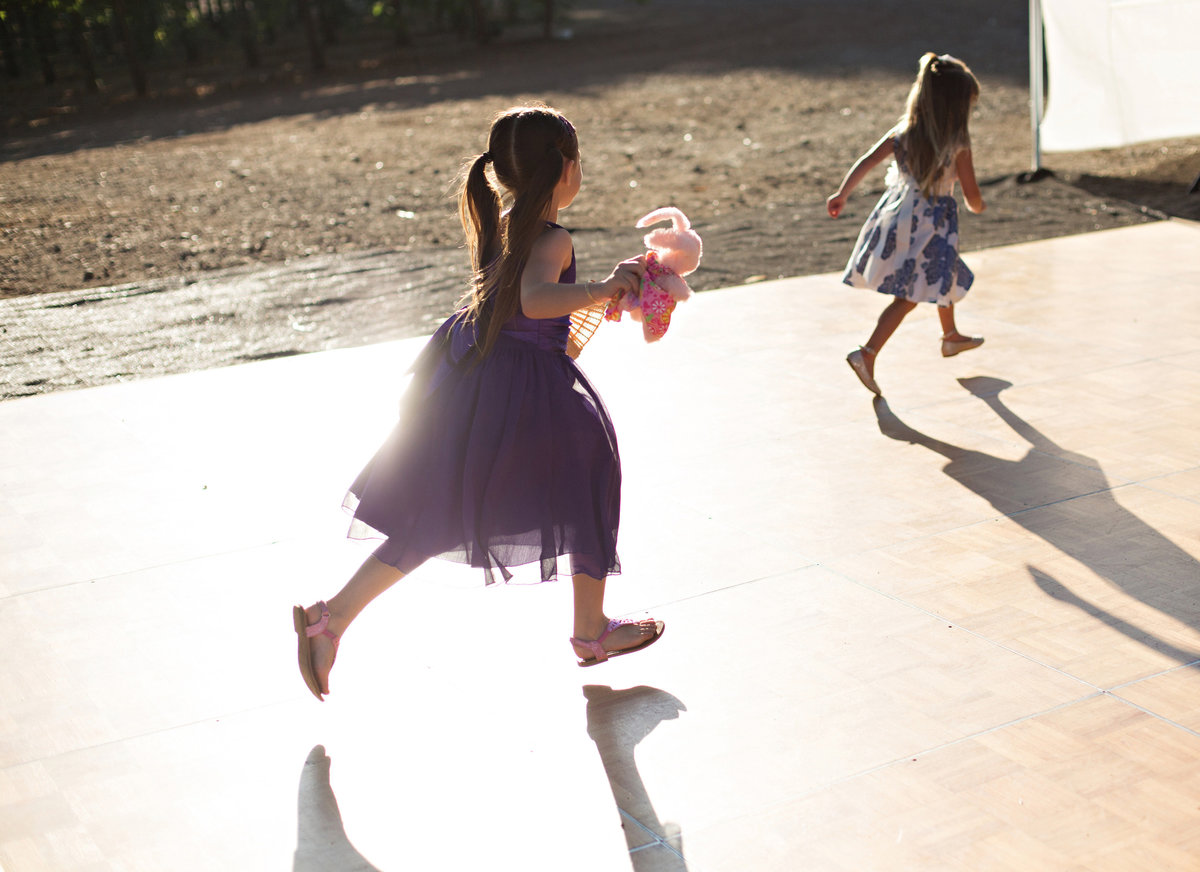 children dancing at wedding