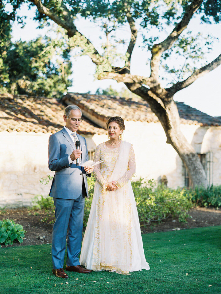 al fresco wedding at holman ranch