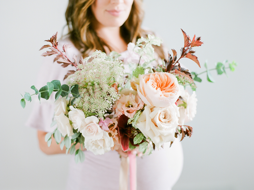 Burgundy and Blush Wedding Inspiration Styled Shoot by Kelly Sweet Photography Floral Arrangement