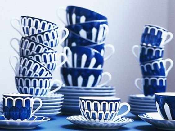 blue hermes teacups