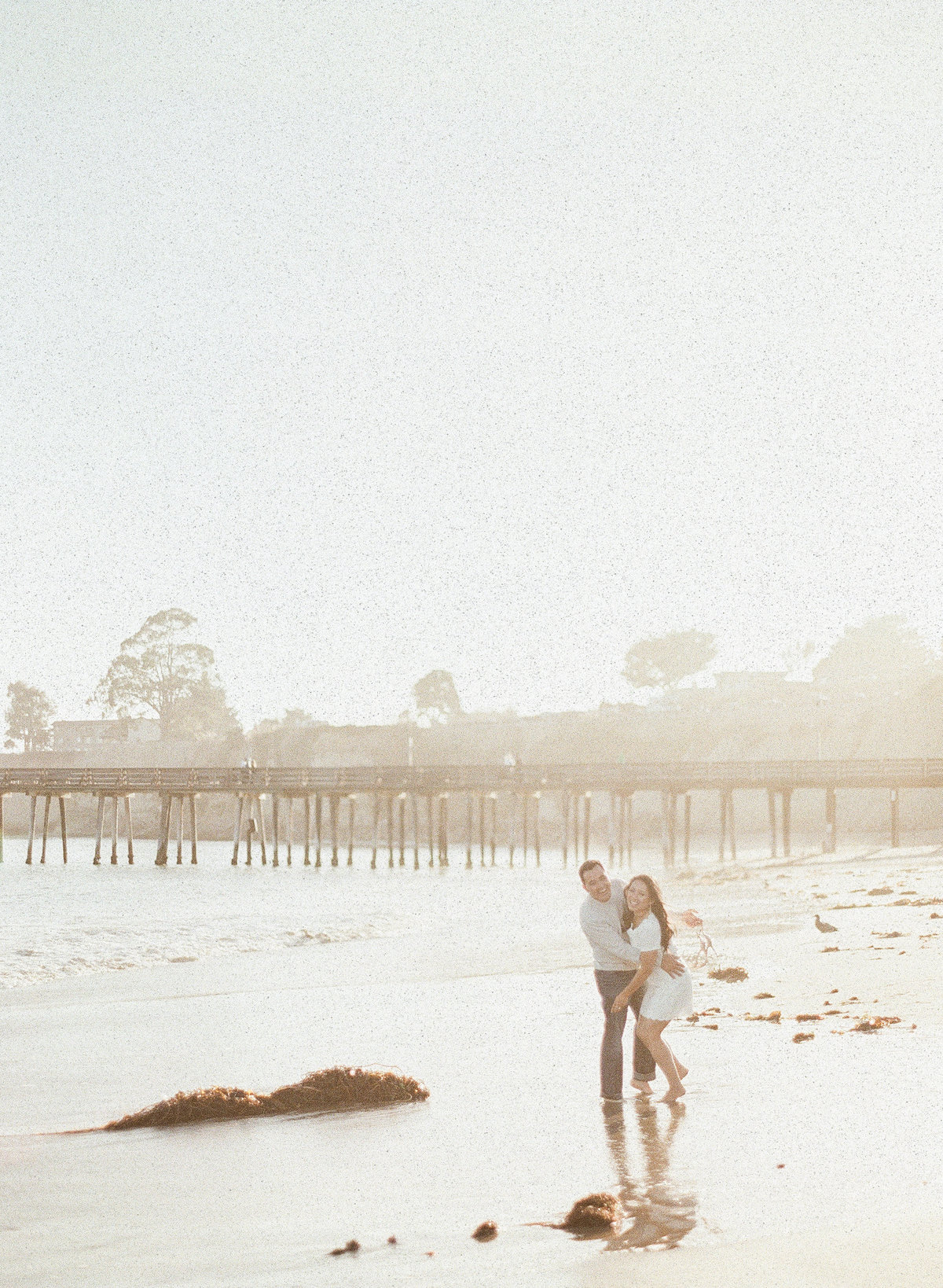 Golden Hour Sunset Beach Engagement