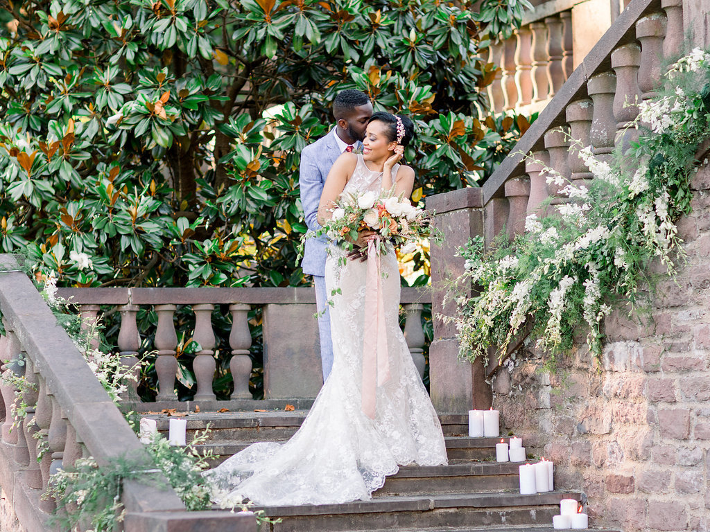 Summer Wedding Tyler Gardens Philadelphia bride groom florist