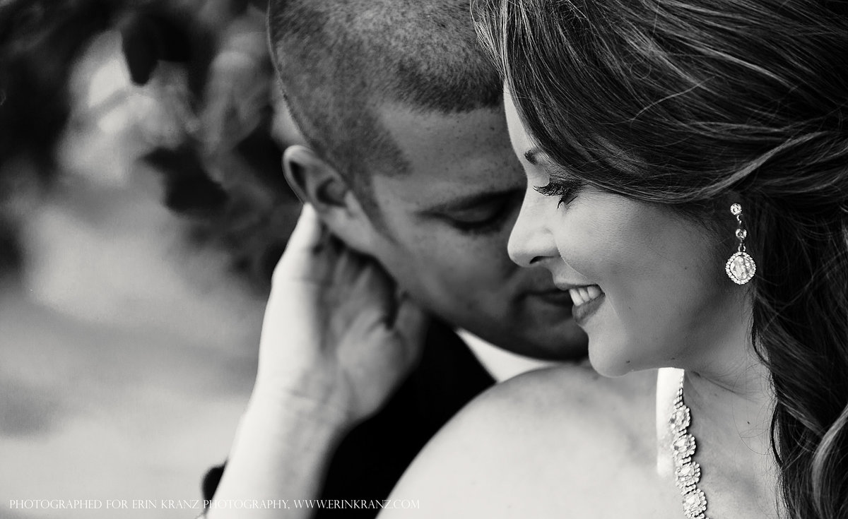charlotte wedding photographer jamie lucido captures a close up of a bride embracing her new husband