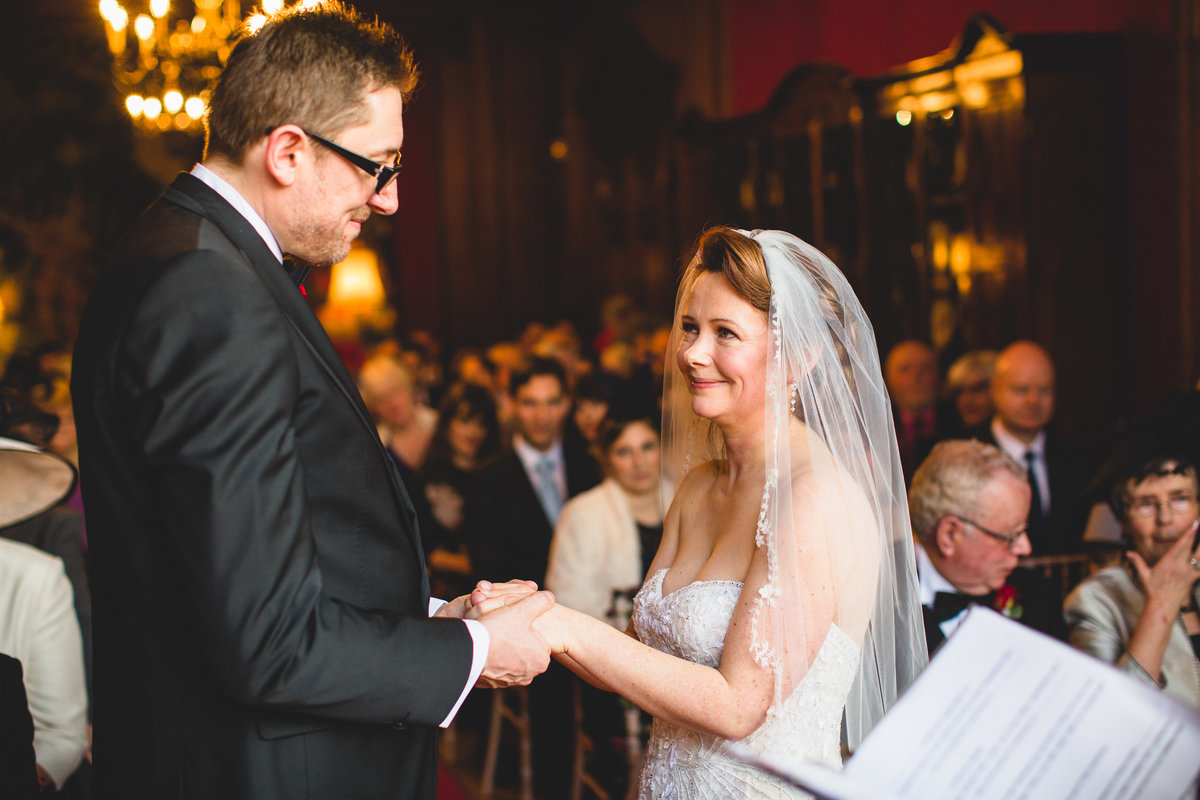 wedding ceremony at thornton manor exchange of vows
