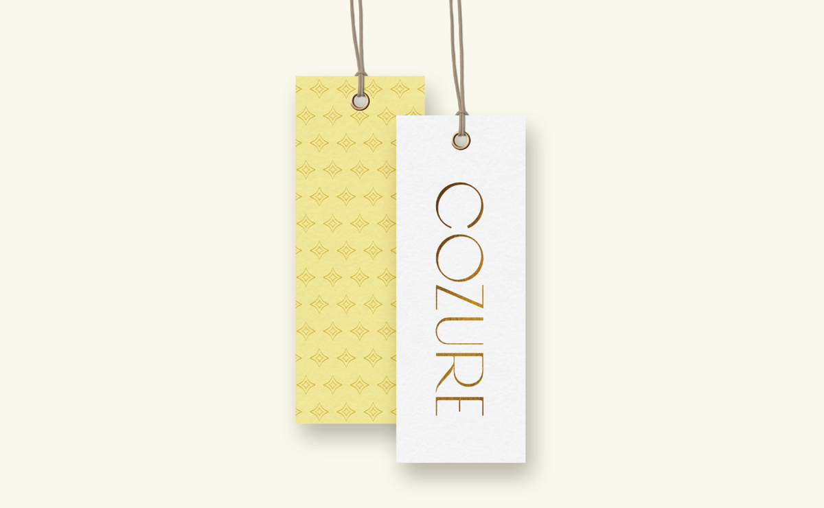 Cozure hang tags