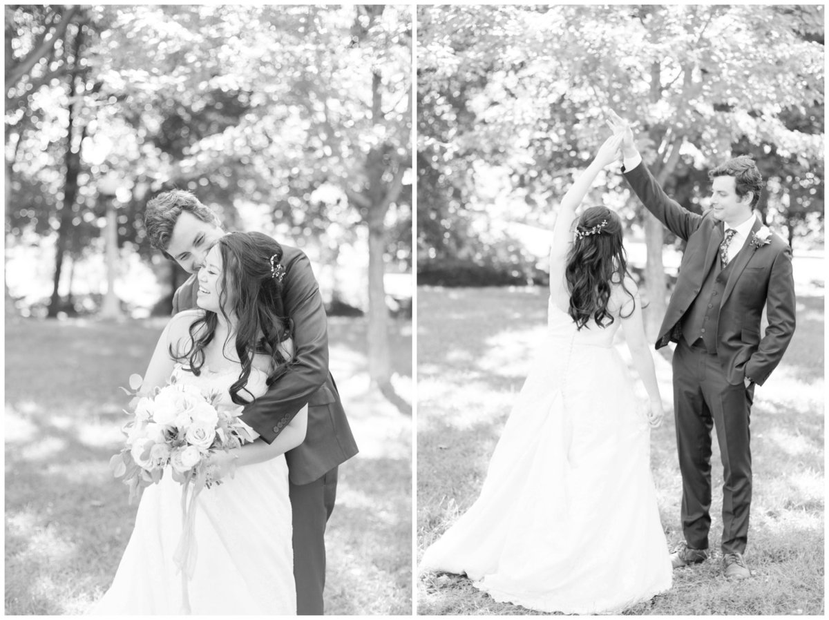 Light-and-Airy-Ottawa-Wedding-Photographer-Bride-and-Groom-School-House-Black-and-White