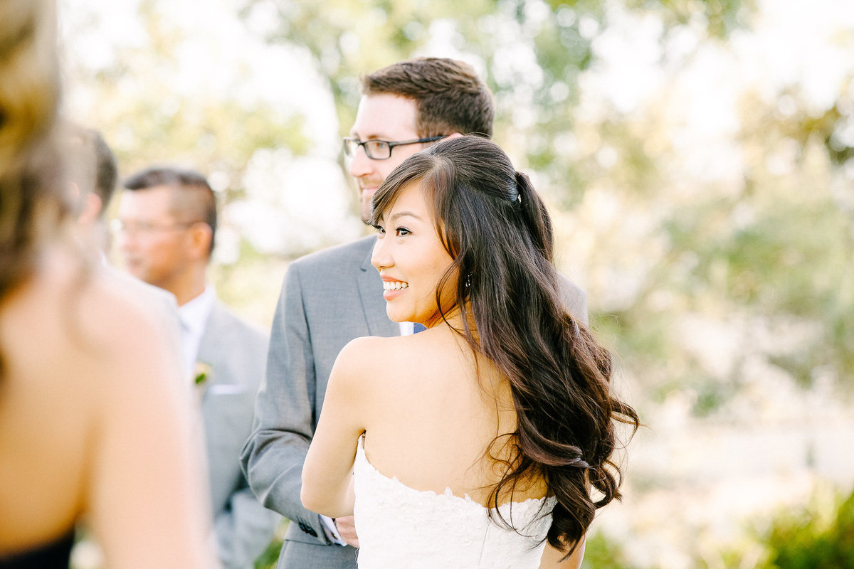 A beautiful outdoor ceremony at Thomas Fogarty Winery.